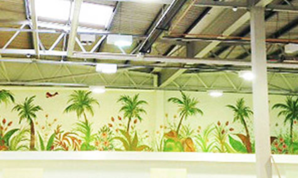 Palm Jungle Large Wall Mural
