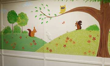 St Edwards First School,  Woodland Corridor Mural