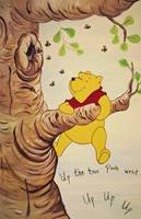 Winne The Pooh Up A Tree Mural