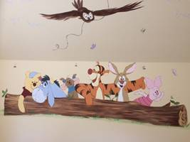 Winnie The Pooh With Friends Wall Mural