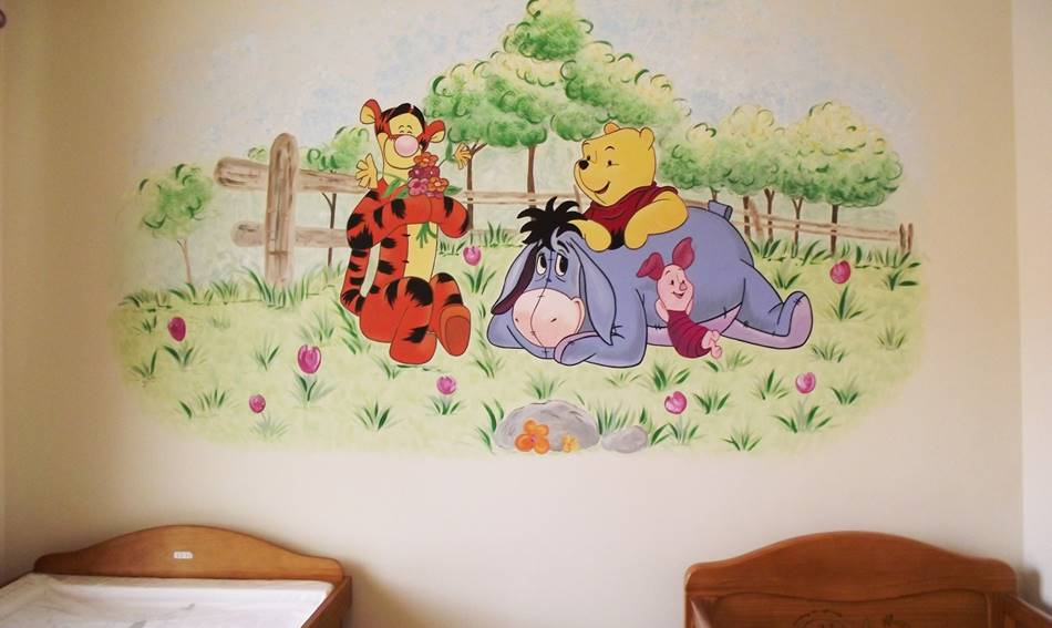 Winnie The Pooh And Friends Wall Mural
