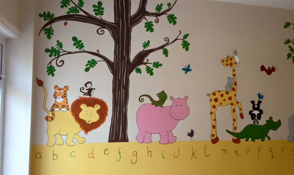 Alphabet Animal Wall Mural