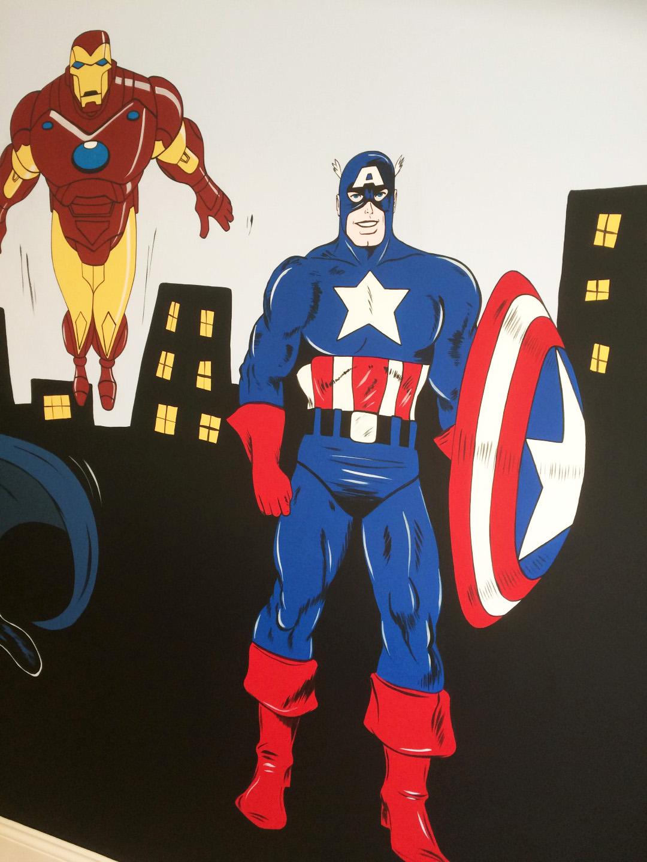 Marvel Superheros Mural