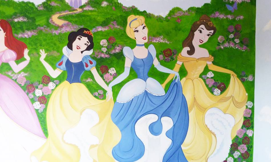Disney Princess Wall Mural (1)