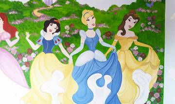 Disney Princess Mural