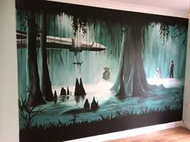 Star Wars Wall Mural.JPG