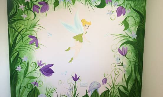 Disney Tinkerbell Magic Garden Mural
