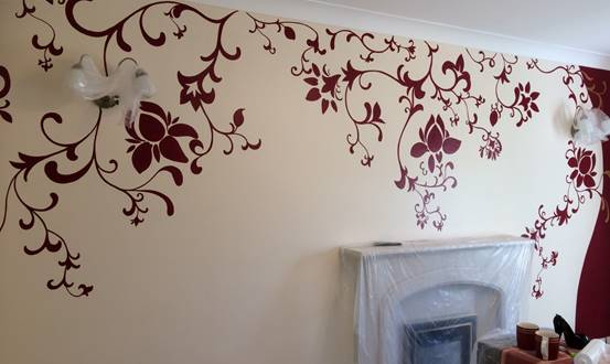 Decorative Floral Mural
