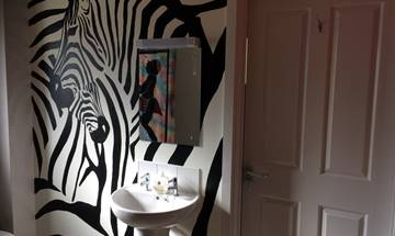 Abstract Zebra Head Mural