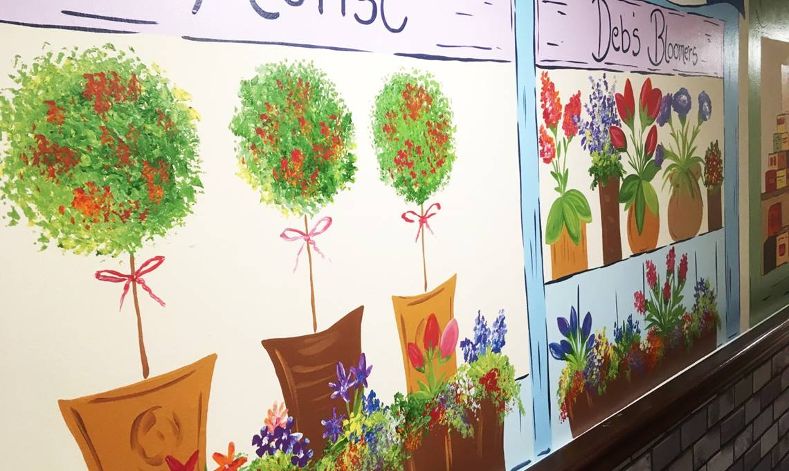 Murals for people who suffer with Dementia