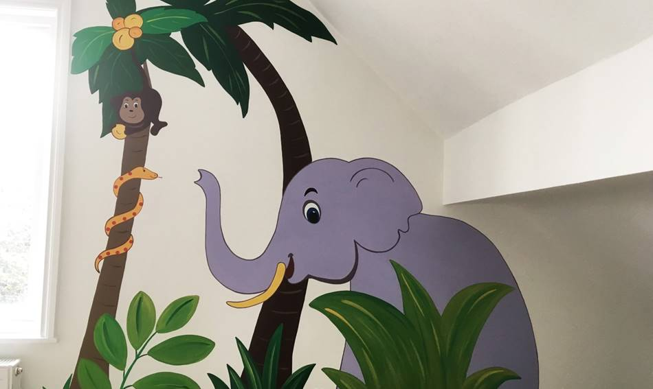 Elephant & Monkey Jungle Mural.jpg