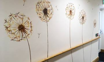 Dandelion Feature Wall Mural
