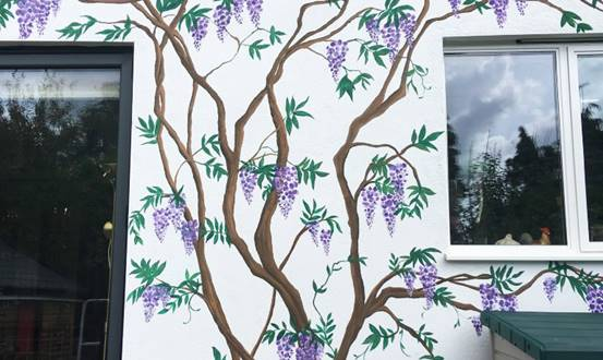 Wisteria Vine Outdoor Wall Mural