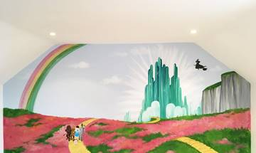 Wizard Of Oz Playroom Mural