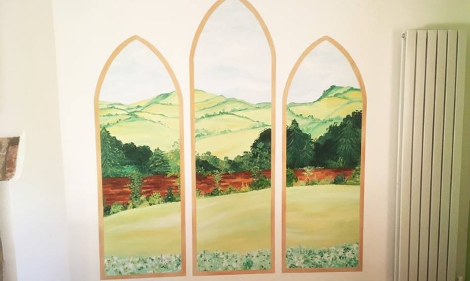 Arched Window Landscape View Mural.jpg
