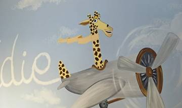 Fun Flying Animal Murals