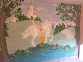 Fairy Princess Unicorn Castle Mural.jpg