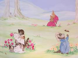 Beatrix Potter Kittens Wall Mural.jpg