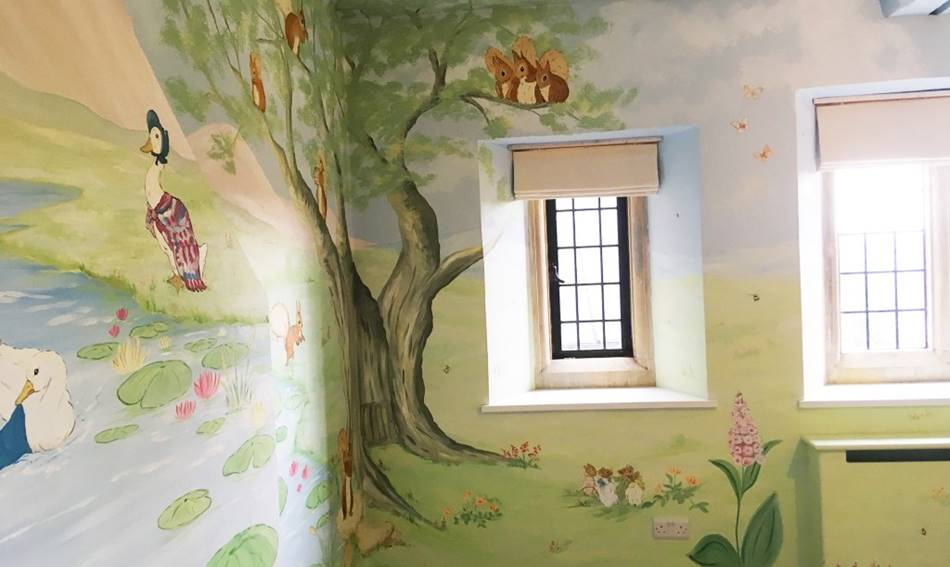 Corner Tree & Squirrels Wall Mural.jpg