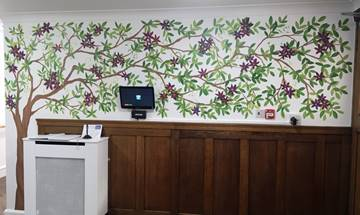 Decorative Floral Entrance Hall Wall Mural