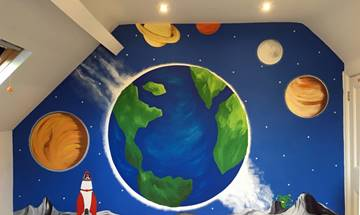 Space Planet Wall Mural
