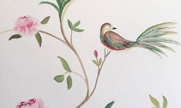 Vintage Chinoiserie Staircase Wall Mural