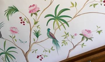 Chinoiserie Rose & Berry Wall Mural