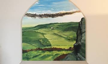 Peak District Landscape Window Mural