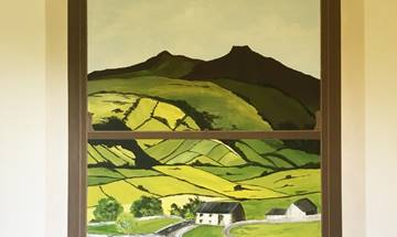 Welsh Landscape Sash Window Mural