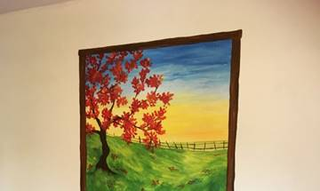 Sunshine Blossom Tree Window Mural