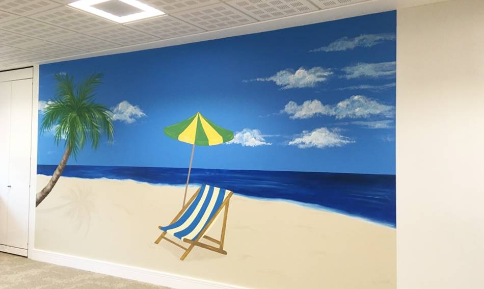 Tropical Beach Sea Ocean Wall Mural.jpg