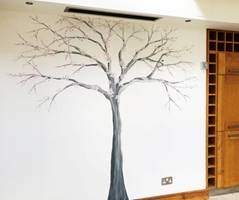 Modern Art Blossom Tree Wall Mural