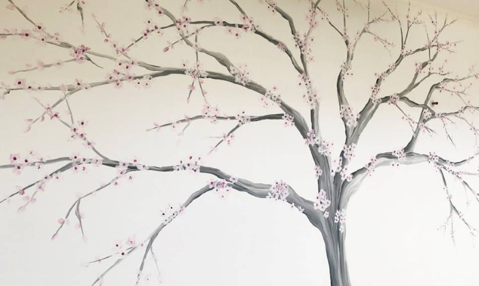 Painted Blossom Wall Art Painting