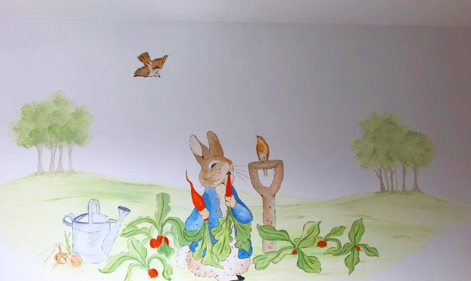 Beatrix Potter Wall Painting