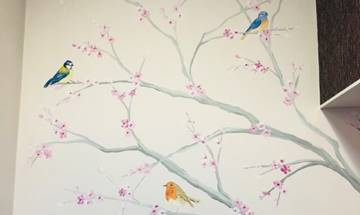 Birds and Blossom Tree Mural