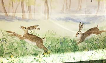 Woodland Hares Mural