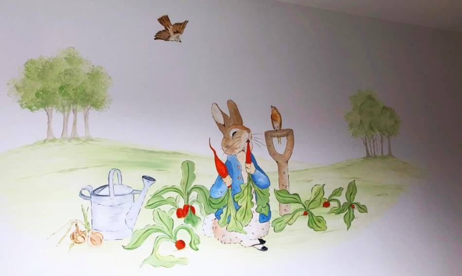Peter Rabbit Wall Painting