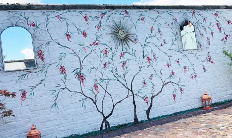Chinoiserie Blossom Mural