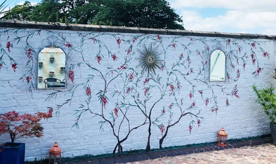 Outdoor Chinoiserie Mural