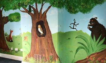 The Faber Catholic Primary School Library Mural
