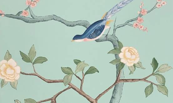 Chinoiserie Charming Birds Mural