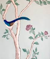 Chinoiserie Rose Painting