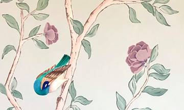 Chinoiserie Vintage Rose Mural