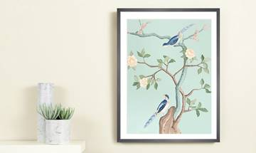 Charming Birds Chinoiserie Giclée Print Large