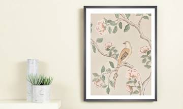 Tuscany Bloom Chinoiserie Giclée Print Large